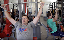 UWG students training in a gym