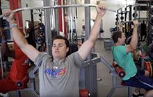 UWG students training in a gym
